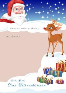 Brief vom Weihnachtsmann - Design 1