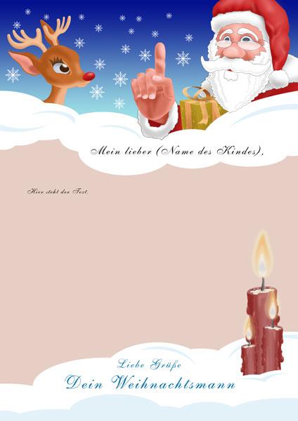 Brief Vom Weihnachtsmann Briefdesigns