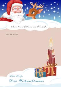 Brief vom Weihnachtsmann - Design 3