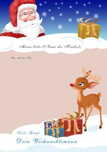 Brief vom Weihnachtsmann - Design 4